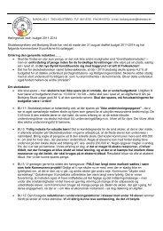Borbjerg Skole - høringssvar budget 2011 -2014