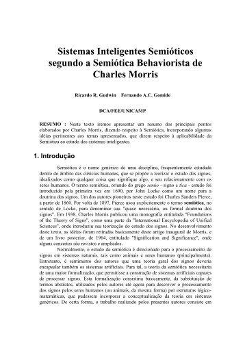 Sistemas Inteligentes Semióticos segundo a ... - DCA - Unicamp