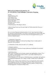 Referat fra kredsbestyrelsesmøde nr - Friluftsrådet