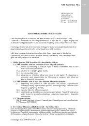 Alminnelige forretningsvilkår - NRP AS