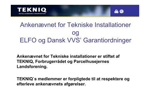 Ankenævnet for Tekniske Installationer - Dansk Gas Forening