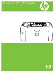 HP LaserJet P1000 and 1500 Series USG - DAWW