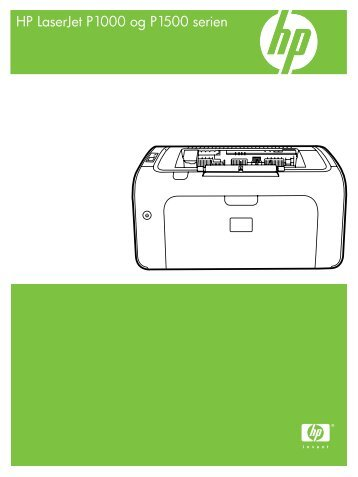 HP LaserJet P1000 and 1500 Series USG - DAWW