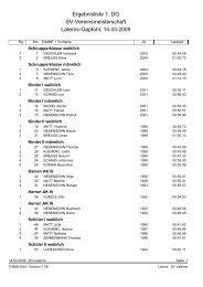 Ergebnisliste 1. DG Sv-Vereinsmeisterschaft Laterns-Gapfohl, 14.03 ...