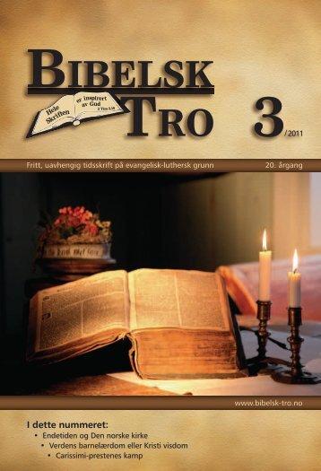 Bibelsk Tro nr.3 2011 - Shafan.dk