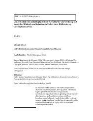 Generel aftale om samarbejde mellem Københavns Universitet og ...