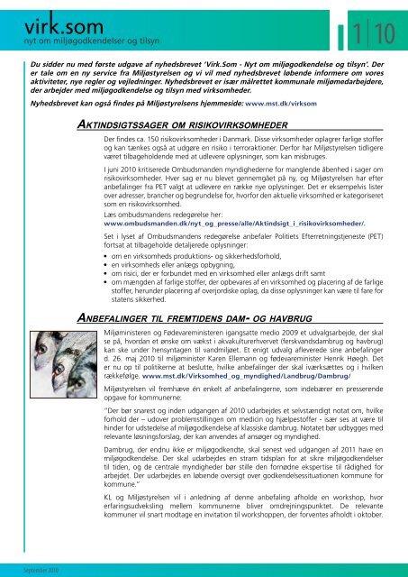 Download nyhedsbrevet som pdf - Miljøstyrelsen