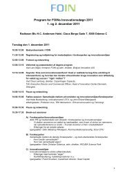 Program for FOINs Innovationsdøgn 2011 1. og 2. december 2011