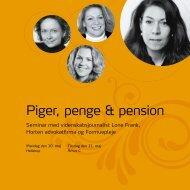 Piger, penge & pension - Formuepleje