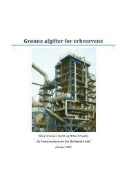 Grønne afgifter for erhvervene - Ea Energianalyse a/s