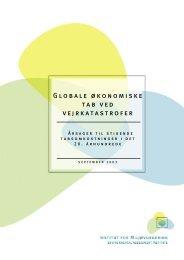 Globale økonomiske tab ved vejrkatastrofer - De Økonomiske Råd