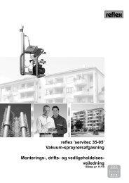 reflex 'servitec 35-95' Vakuum-sprayrørsafgasning Monterings-, drifts ...