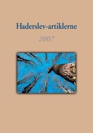 Haderslev-artiklerne 2007 - Haderslev Stift