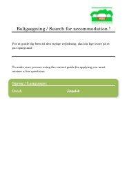 Boligsøgning / Search for accommodation ! - Kollegieboligselskabet