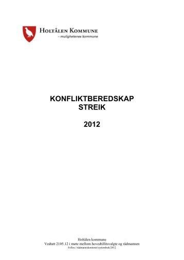 KONFLIKTBEREDSKAP STREIK 2012 - Holtålen