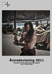 Årsredovisning 2011 - Paradox Entertainment