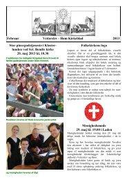 Kirkeblad Februar 2013 - Høm sogne