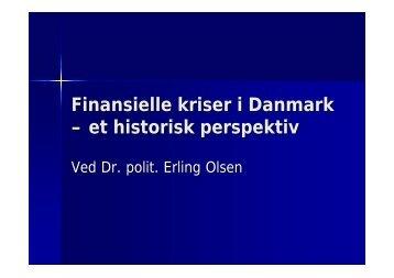Finansielle kriser i Danmark – et historisk perspektiv - Finanstilsynet