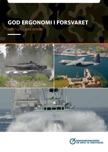 GOD ERGONOMI I FORSVARET - BAR - service og tjenesteydelser.