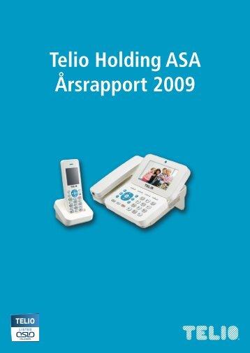 Styreberetning 2009 - Telio