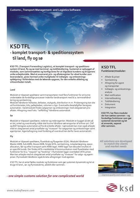 Produktark TFL DK 2013.indd - KSD Software