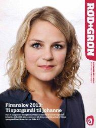 Finanslov 2013: Ti spørgsmål til Johanne - Enhedslisten
