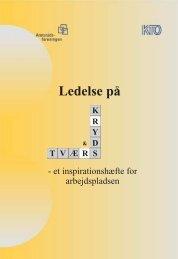 Ledelse på kryds og tværs, Inspirationshæfte - KTO