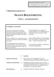 Vedligeholdelsesreglement 2013 - Skagen boligforening