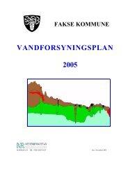 Vandforsyningsplan Fakse Kommune - Faxe Forsyning