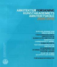 arkitekturforskning kunstakademiets arkitektskole 2009/2010