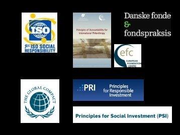 Retningslinjer og principper for fondsverdenen, ved Tania Ellis
