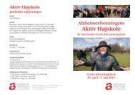 Folder om Aktiv Højskole på Gerlev Idræftshøjskole 2013 (pdf)
