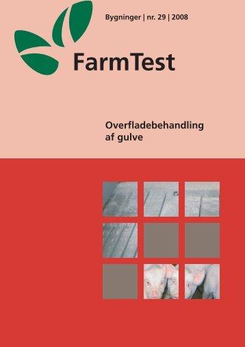 Overflade- behandling af gulve - LandbrugsInfo
