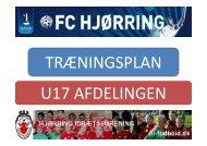 Træningsplan- U17 - hi-fodbold.dk