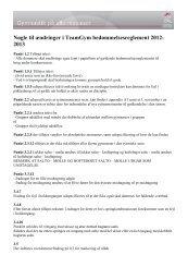 Nøgle til ændringer i TeamGym bedømmelsesreglement 2012- 2013