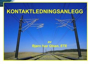 KONTAKTLEDNINGSANLEGG - Jernbaneverket