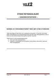 etiske retningslinjer - Tele2