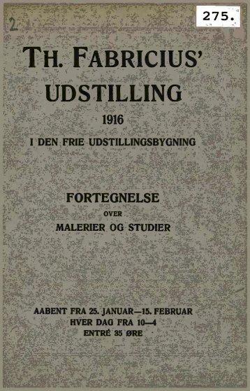 th. fabricius' udstilling 1916