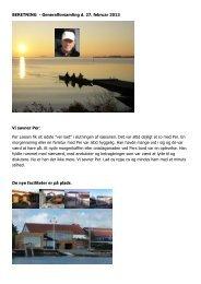 Bestyrelsens beretning for 2012 - Hellerup Roklub