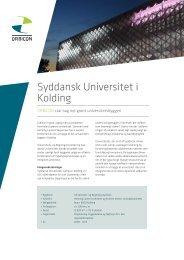 Syddansk Universitet i Kolding - Orbicon