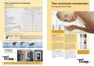 Titan varmtvands-varmepumper: - Titan Heating