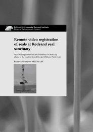 Remote video registration of seals at Rødsand seal sanctuary