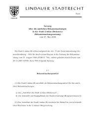 Bekanntmachungssatzung - Lindau