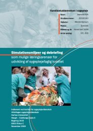 Jeanette Kirk's speciale simulationsmiljøer og ... - Hvidovre Hospital