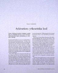 Arkivariens yrkesetiska kod - Visa filer
