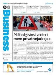 Milliardgevinst venter i mere privat vejarbejde - Dansk Industri