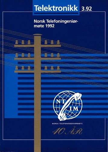 Norsk Telefoningeniørmøte 1992 - Telenor