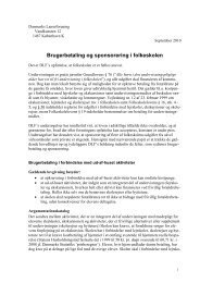 Brugerbetaling og sponsorering i folkeskolen