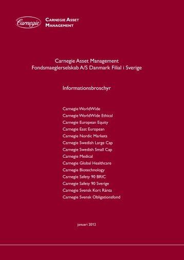 Informationsbroschyr - Carnegie Asset Management