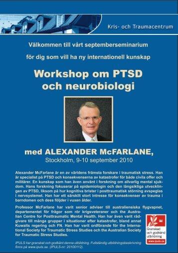 Workshop om PTSD och neurobiologi - Kris